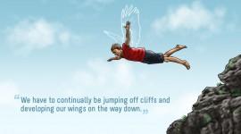 Jump Off A Cliff Best Wallpaper