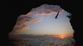 Jump Off A Cliff High Quality Wallpaper