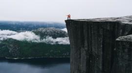 Jump Off A Cliff Wallpaper