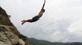 Jump Off A Cliff Wallpaper Download Free