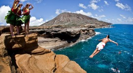 Jump Off A Cliff Wallpaper For PC