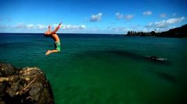Jump Off A Cliff Wallpaper HD