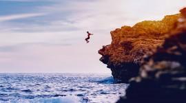 Jump Off A Cliff Wallpaper High Definition