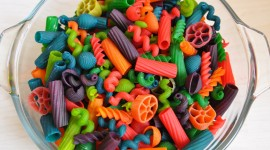 Multi-Colored Pasta Wallpaper Free