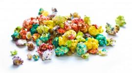 Multi Colored Popcorn Desktop Wallpaper