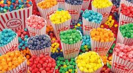 Multi Colored Popcorn Wallpaper For PC