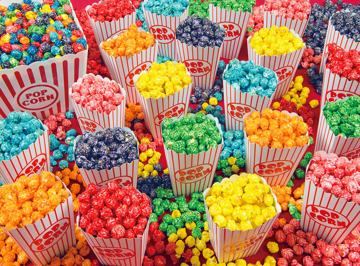 Multi Colored Popcorn Wallpapers High Quality Download Free