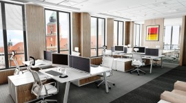 Open Space Office Wallpaper High Definition