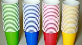Paper Cups Desktop Wallpaper For PC