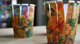 Paper Cups Wallpaper Free