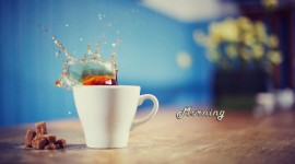 Tea Good Morning Desktop Wallpaper HD