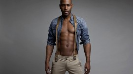 4K Black Male Model Wallpaper
