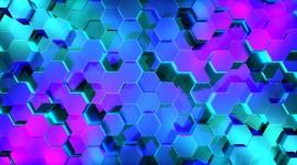 4K Hexagon Wallpaper For PC