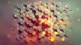 4K Hexagon Wallpaper Free