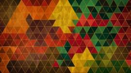 4K Mosaic Triangles Desktop Wallpaper