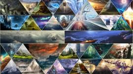 4K Mosaic Triangles Photo