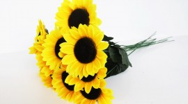 Artificial Sunflowers Photo