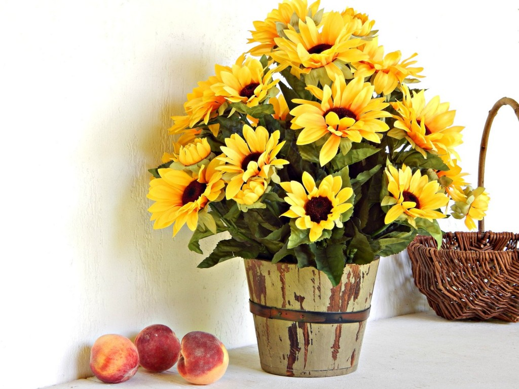 Artificial Sunflowers wallpapers HD