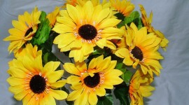 Artificial Sunflowers Wallpaper For Desktop