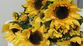 Artificial Sunflowers Wallpaper For PC