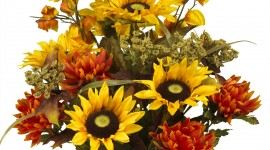 Artificial Sunflowers Wallpaper Free