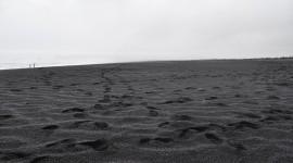 Black Sand Desktop Wallpaper HD