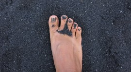 Black Sand Photo Free