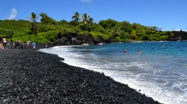 Black Sand Wallpaper Full HD