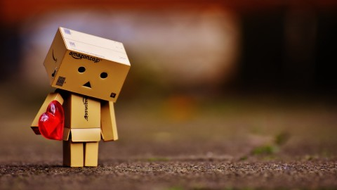 Cardboard Robot Love wallpapers high quality