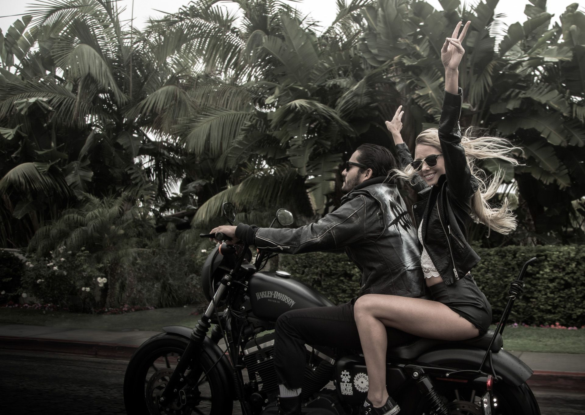 Couple Motorcycle Love Wallpaper For PC