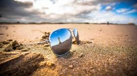 Glasses On Sand Best Wallpaper