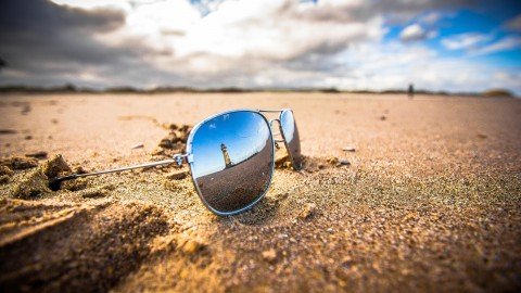 Glasses On Sand wallpapers high quality