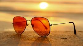 Glasses On Sand Desktop Wallpaper