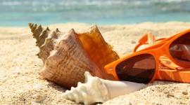 Glasses On Sand Photo
