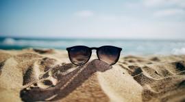 Glasses On Sand Wallpaper For PC