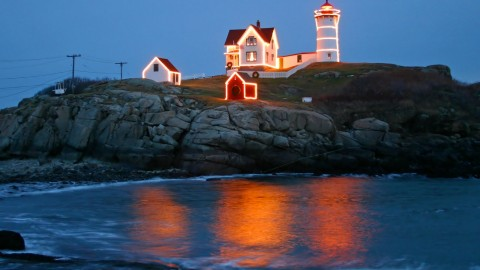 Lighthouse Night wallpapers high quality