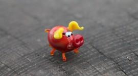 Pig Figurine Wallpaper