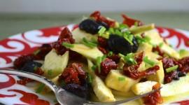 Salad With Olives Desktop Wallpaper HD