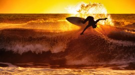 Surfer Sunset Best Wallpaper