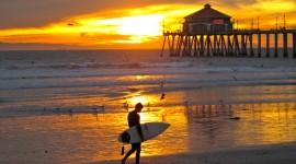 Surfer Sunset Desktop Wallpaper