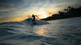Surfer Sunset Desktop Wallpaper For PC