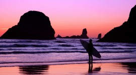 Surfer Sunset Image Download