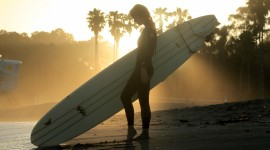 Surfer Sunset Photo Download