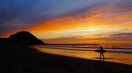Surfer Sunset Photo Free