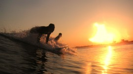 Surfer Sunset Wallpaper