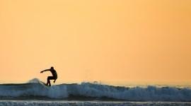 Surfer Sunset Wallpaper Download