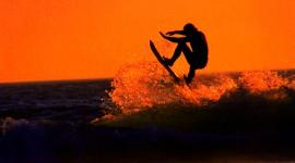 Surfer Sunset Wallpaper For PC