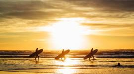 Surfer Sunset Wallpaper Free