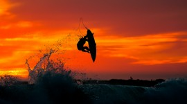 Surfer Sunset Wallpaper Full HD