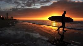 Surfer Sunset Wallpaper HQ